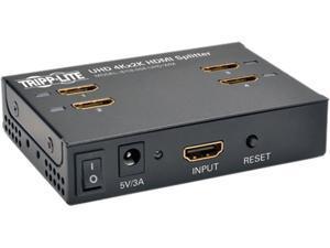 Tripp Lite B118-004-UHD-WM 4-Port Wall Mountable 4K HDMI Splitter for Ultra-HD (4Kx2K) Video and Audio - 3840x2160