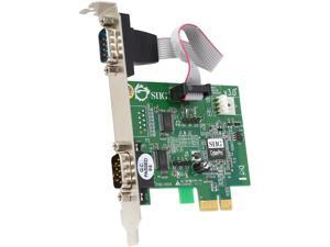 SIIG CyberSerial Dual PCIe 2 9-pin Serial Ports (16950 UART) to PCI Express System Model JJ-E10D11-S3