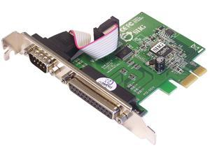 SIIG PCIe board with 1 serial (RS-232) and parallel (DB25) port Model JJ-E00011-S3 - OEM