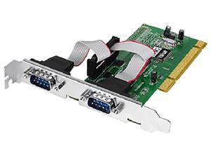 SIIG 2-Port 9-pin Serial Ports PCI Card Model JJ-P20511-S3 - OEM