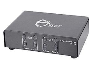 SIIG 2x2 VGA & Audio Matrix Switch CE-VG0K11-S1