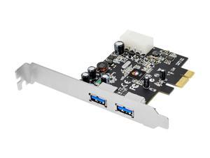 SIIG SuperSpeed USB 3.0 2-Port PCI Express - Value Model JU-E20011-S1