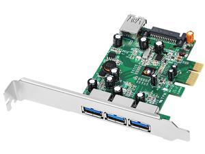SIIG DP 4-Port USB 3.0 PCIe i/e Model JU-P40311-S1 - OEM
