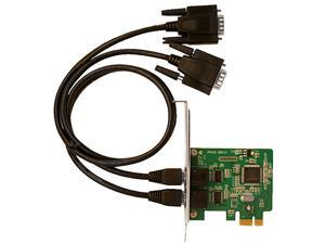SIIG DP 2-Port Industrial RS-232 PCI Express Adapter Card Model ID-E20111-S1