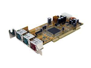 StarTech 2 Port 12V 1 Port 24V Dual Profile PCI Powered USB Card Model PCI1224PUSB