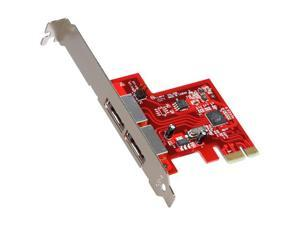 StarTech 2 Port SATA 6 Gbps PCI Express eSATA Controller Card Model PEXESAT32