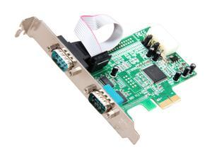 StarTech 2 Port Native PCI Express RS232 Serial Adapter Card with 16550 UART Model PEX2S553