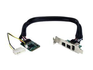 StarTech 3 Port 2b 1a 1394 Mini PCI Express FireWire Card Adapter Model MPEX1394B3