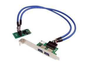 StarTech 2 Port Mini PCI Express SuperSpeed USB 3.0 Card Adapter MPEXUSB3S2