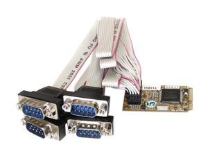 StarTech 4 Port RS232 Mini PCI Express Serial Card w/ 16650 UART Model MPEX4S552