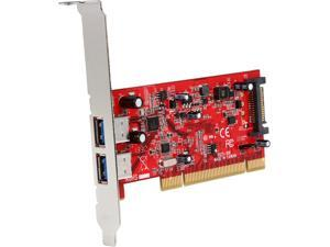 StarTech 2 Port PCI SuperSpeed USB 3.0 Adapter Card with SATA Power Model PCIUSB3S22