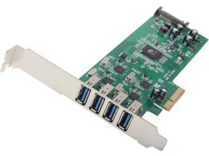 StarTech 4 Independent Port PCI Ex PCIe SuperSpeed USB 3.0 Controller Card Adapter with SATA Power Model PEXUSB3S400