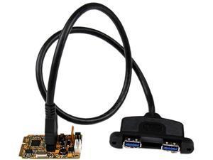 StarTech 2 Port SuperSpeed Mini PCI Express USB 3.0 Adapter Card w/ Bracket Kit Model MPEXUSB3S22B