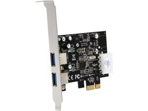 StarTech 2 Port PCI Express (PCIe) SuperSpeed USB 3.0 Card Adapter with UASP - LP4 Power Model PEXUSB3S25