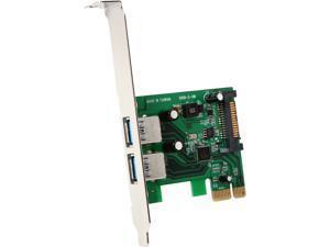 StarTech 2 Port PCI Express (PCIe) SuperSpeed USB 3.0 Card Adapter with UASP - SATA Power Model PEXUSB3S24