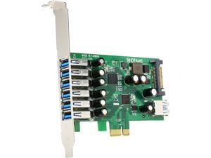 StarTech 7-port PCI Express USB 3.0 card - standard and low-profile design Model PEXUSB3S7