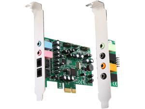 StarTech 7.1 channel sound card - PCI Express, 24-bit, 192KHz Model PEXSOUND7CH