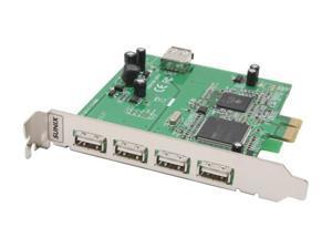 SUNIX PCI Express USB2.0 4+1 ports Card Model USB4414N