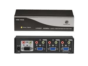 ConnectPRO 3-Port 400MHz Video Splitter with Audio VSE-103A
