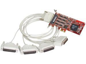 Comtrol RocketPort PCIe 4 Port DB25M RS232/422/485 Express Quad Model 30127-1