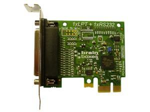 Brainboxes Parallel Port Printer Low Profile PCI Express Serial Card Model PX-157
