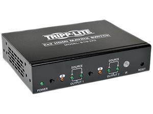 Tripp Lite 2x2 HDMI Matrix Switch for Video and Audio, 1920x1200 at 60Hz / 1080p B119-2X2