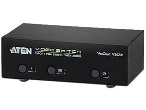 ATEN 2-Port VGA Switch with Audio VS0201