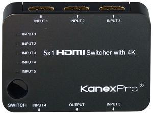 KanexPro 5x1 HDMI Switcher with 4K Support SW-HD5X14K