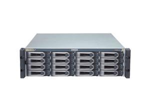 "PROMISE VTE610sD RAID 0, 1, 1E, 5, 6, 10, 50, 60 16 3.5"" Drive Bays Four external SAS-wide (x4) host interface ports