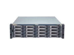 "PROMISE VTE610sS RAID 0, 1, 1E, 5, 6, 10, 50, 60 16 3.5"" Drive Bays Four external SAS-wide (x4) host interface ports One external 3Gb/s SAS-wide (x4) ports for JBOD expansion (up to 4 VTrak JBOD Syste"