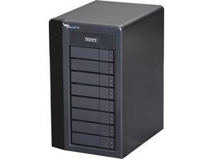 """PROMISE Pegasus2 R8 P2R8HD32US RAID 0, 1, 5,6,10,50,60 8 x 3.5"""" Drive Bays 2 x Thunderbolt 2 32TB RAID System - Retail"""