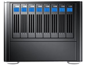 SANS DIGITAL MobileSTOR MS28X8E 8 Bay 2.5 tower SAS/SSD/SATA to mini-SAS Storage with 8TB(8x1TB) HD