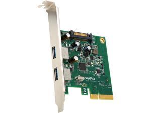 HighPoint RS3122A PCI-Express 2.0 x 4 Low Profile Two USB 3.1 Type-A Ports 2-Port USB 3.1 PCIe 2.0 Host adapter