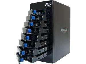 HighPoint RocketStor 6418AS - 8-Bay 6 Gb/s SAS / SATA Hardware RAID Tower Enclosure