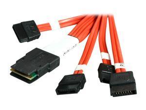 3ware CBL-SFF8087OCF-06M 1 Unit of 0.6M Multi-lane Internal (SFF-8087) Serial ATA Breakout Cable