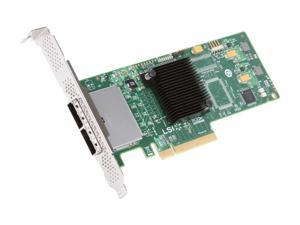 LSI LSI00188 PCI Express Low Profile Ready SATA / SAS 9200-8e Controller Card (Single Pack)--Avago Technologies