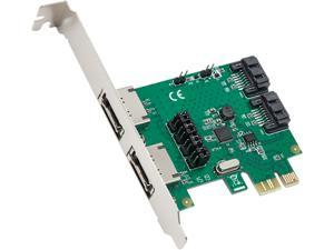 SYBA SD-PEX40100 PCI-Express 2.0 x1 Low Profile SATA III (6.0Gb/s) 2 Port Raid Controller Card