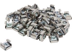 StarTech CABCAGENUTS6 50 Pkg M6 Cage Nuts for Server Rack Cabinet