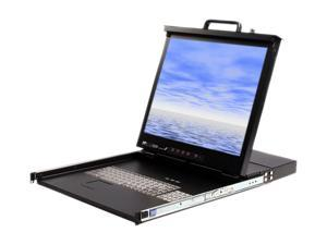 StarTech RACKCONS1908 1U 19in Rackmount LCD Console with Integrated 8 Port KVM Switch