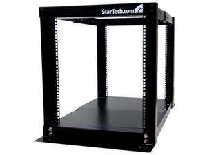 StarTech.com 12U Adjustable 4 Post Server Equipment Open Frame Rack Cabinet