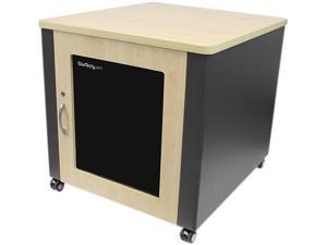 StarTech.com 12U Quiet Office Server Cabinet with Wood Finish / Casters and Fans
