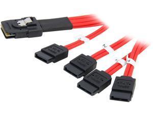 Rosewill RASA-13002 - 2-Foot (0.6 Meter) Multi-Lane Internal Serial ATA Breakout Cable (SFF-8087)