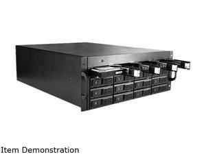 "iStarUSA DAGE416UTL-4MS 16 3.5"" Drive Bays 4U 16-bay 3.5"" SAS/SATA 6.0Gb/s miniSAS SFF8088 JBOD Trayless Rackmount Chassis 750W PSU"
