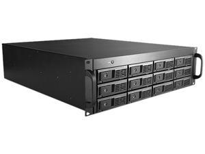 "iStarUSA DAGE312UTL-3MS 3U 12-bay 3.5"" SAS / SATA 6.0 Gb/s miniSAS SFF8088 JBOD Trayless Rackmount Chassis 500W PSU"
