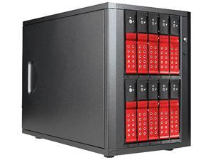 "iStarUSA DAGE1040DERD-PM 10-bay 3.5"" SATA 6.0 Gb/s eSATA-Port Multiplier Trayless JBOD Enclosure 250W PSU"