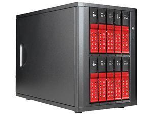 "iStarUSA DAGE1040DERD-PM 10-bay 3.5"" SATA 6.0 Gb/s eSATA-Port Multiplier Trayless JBOD Enclosure 250W PSU"