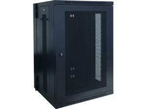 Tripp Lite 18U Wall-Mount Rack Enclosure Cabinet, Hinged Back, Switch-Depth (SRW18US)