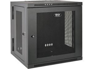 Tripp Lite 10U Wall-Mount Rack Enclosure Cabinet, Hinged Back, Low-Profile Switch-Depth (SRW10US)