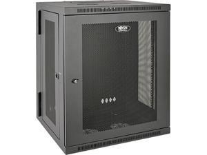 Tripp Lite 15U Wall-Mount Rack Enclosure Cabinet, Hinged Back, Switch-Depth (SRW15US)