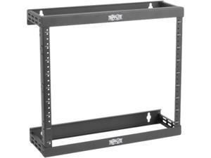 Tripp Lite 2-Post Open Frame Wall Mount Rack, Expandable 8U 12U 22U, Ultra-Low Profile Patch-Depth (SRWO8U22)